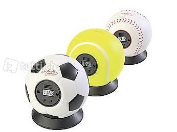 Wurfwecker 3er-Set Fußball/Tennis/Baseball