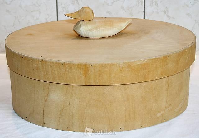 Holzspan-Schachtel mit Ente