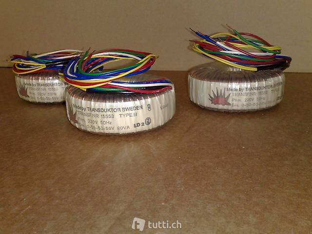 Trasformatore torroidale 220V a 0-50-53-56V 80VA (25 pezzi)