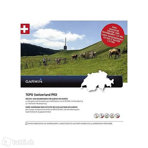 Garmin Topo Schweiz Pro Karte Skitouren Velo Geocaching