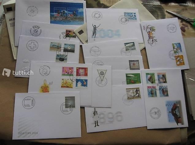 Briefmarken FDCs 2004