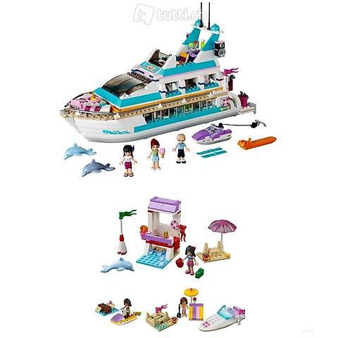 "Lego 4x Friends, Pack 23, ""Am Meer"", Kreuzfahrtschiff"