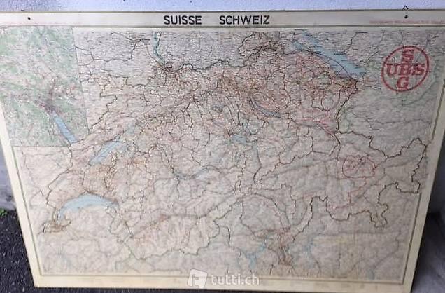 Cartina Della Svizzera.Cartina Della Svizzera Ubs 1979 In Ticino Acquistare