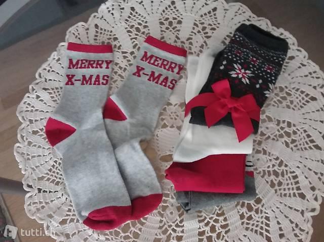 5 Paar Christmas Fun Socks Socken 39/41