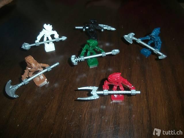Lego 6x Bionicle Pirakha Figuren inkl. Accessoire