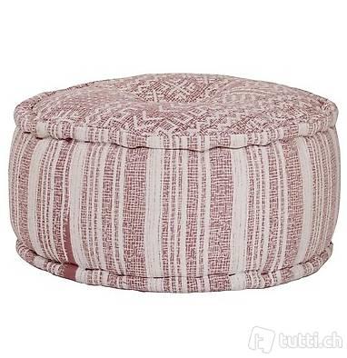 Sitzwürfel mit Muster Handgefertigt 50x25 cm Terracotta