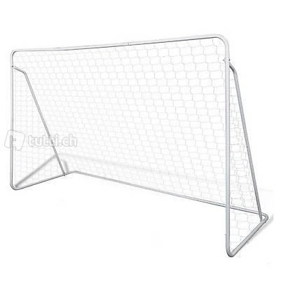 Mini Fussball Torpfosten Netz Set Stahl 240 x 90 x 150 cm
