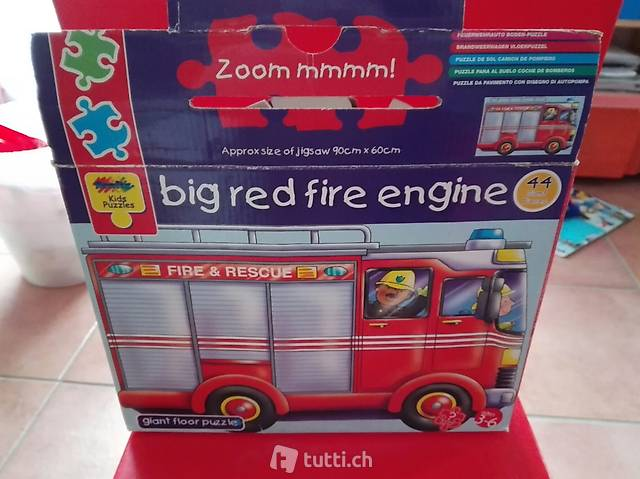 puzzle gigante camion pompieri