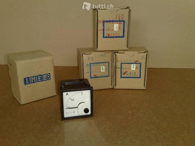Amperometro analogico da montaggio 1A ( nuovi )
