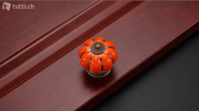 Portofrei 2 stück Orange Möbel Keramik Durchm. 4cm