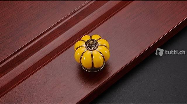Portofrei 2 stück Gelb Möbel Keramik Durchm. 4cm