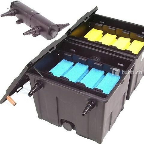 Teichaussenfilter 60000L + UVC-Klärer 24W
