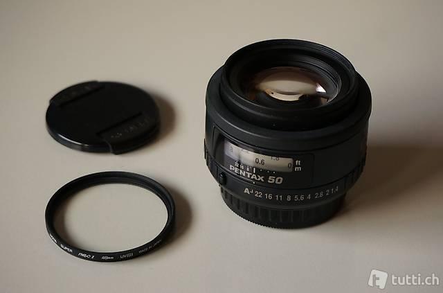 SMC Pentax FA 50mm f1.4 lichtstarkes full frame prime