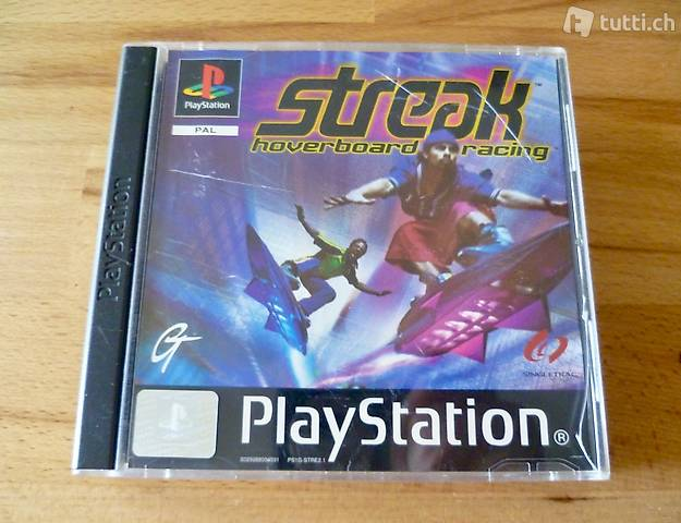 Streak Hoverboard Racing - Sony PlayStation PS1 PSX