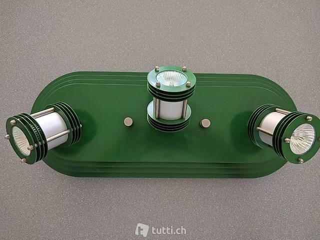 Designe Deckenleuchte grün (Metall)