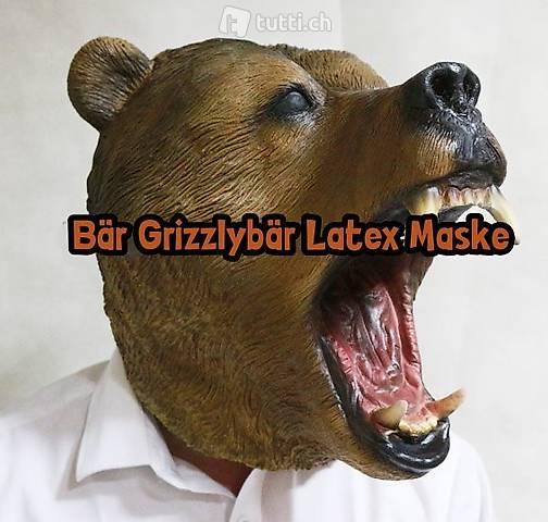Masque d'ours grizzly fait de masque animal latex Halloween