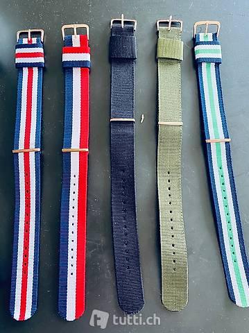 NATO Strap Uhrenband rose Gold Style 22 neu