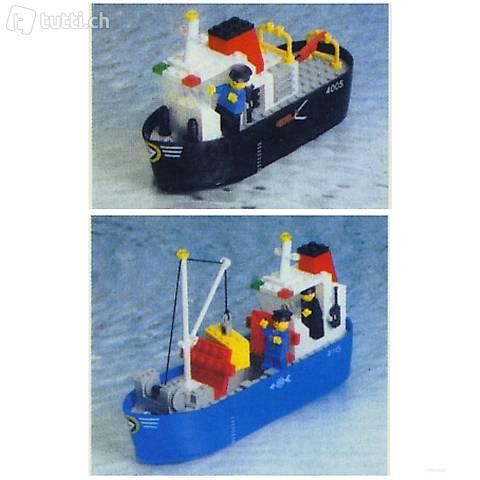 Lego 2 Boote - Frachter und Schlepper