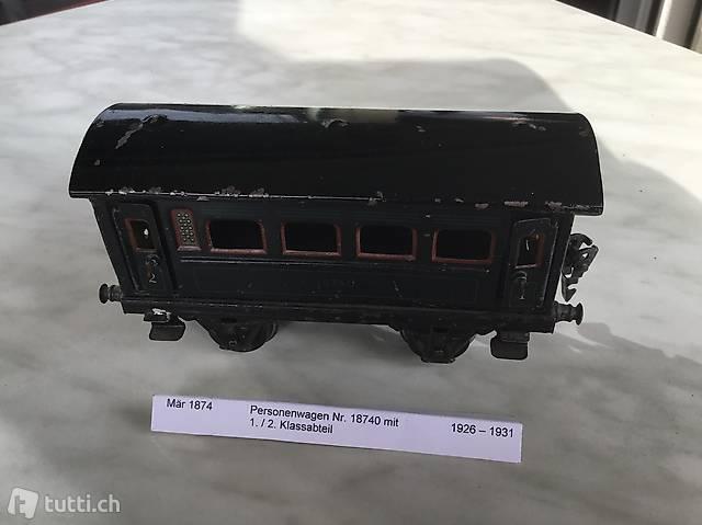 Märklin 2-achsige Personenwagen 1./2. Klasse und 3. Klasse