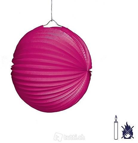 Lampion rund 25cm Pink