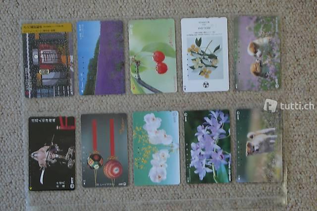 Gebrauchte Telefonkarten (Schweiz, Japan,...)