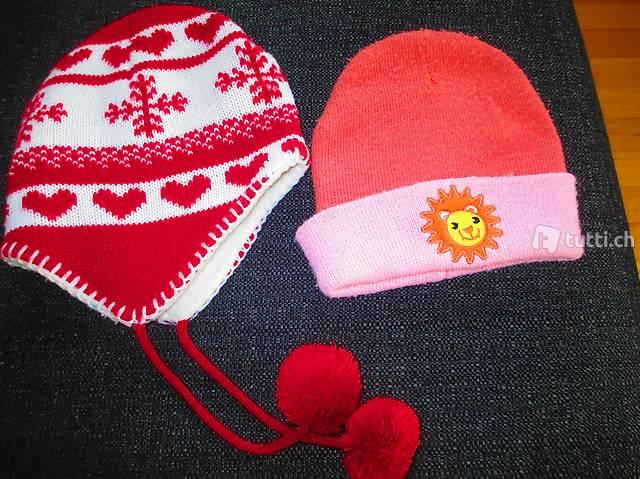 2 Winter Kappen Mädchen bis Gr 110