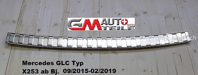 2015 V2A Edelstahl Ladekantenschutz für Mercedes GLC Typ X253 Bj