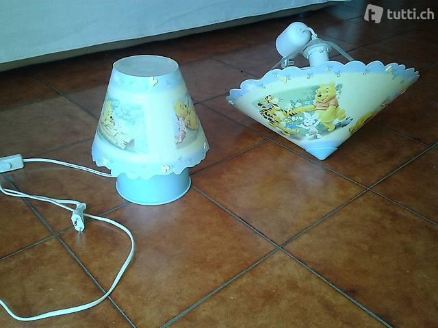 Ensemble de lampe de chevet et suspension Winnie l'Ourson