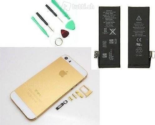 portofrei 3in1 Gold iphone 5s Ersatz gehäuse Werkzeug ersatz