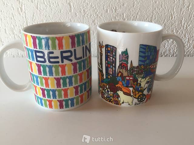 """Porzellan-Kaffee-Becher """"Berlin"""" mit den Buddy Bears"""