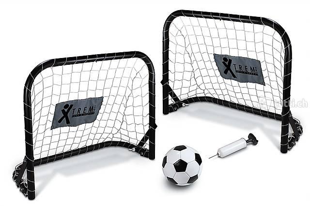 Fussball Metall Torset inkl. Ball und Pumpe! NEU