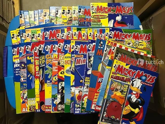 47x Mickey Mouse Hefte Jg. 2000-2003 teils mit Beilagen