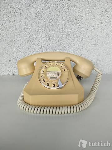 Original Schweizer Telefon crème