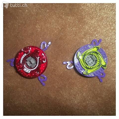 Ninjago 2 Spinner +extra Schlangenspinner & Aufsatz TOP