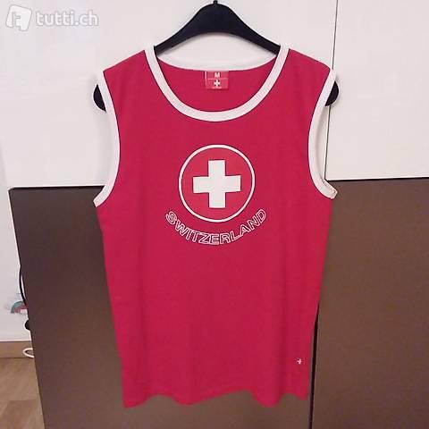 Schweizer Shirt  CH Top Gr M rot/weiss