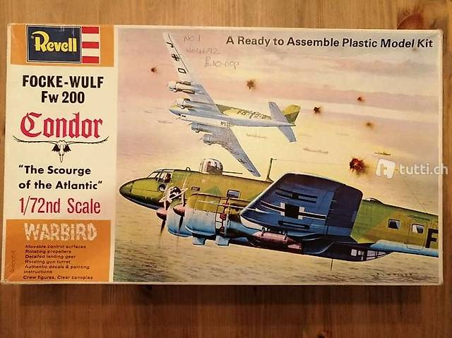 1:72 Revell H-204 - Focke Wulf FW 200 Condor - Modellbausatz