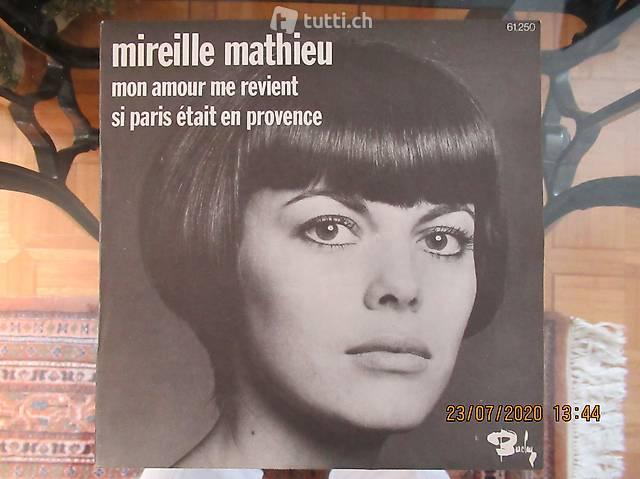 MIREILLE MATHIEU, eine Single aus dem etzten Jahrhundert