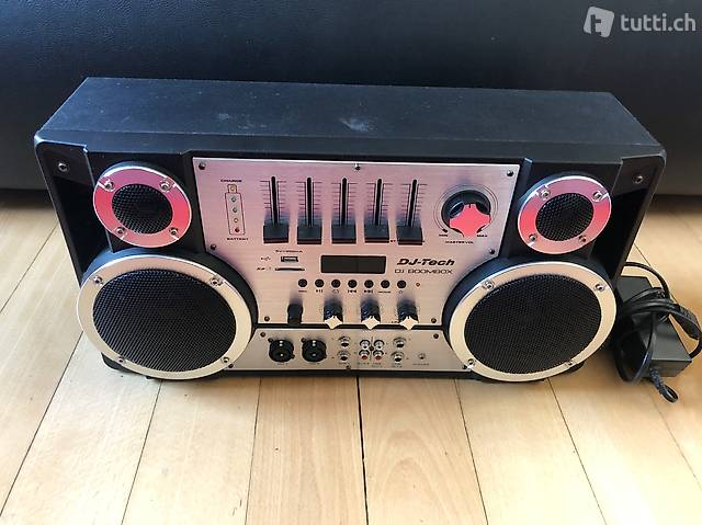 DJ Tech Boombox Ghettoblaster Sound Bluetooth Mixer
