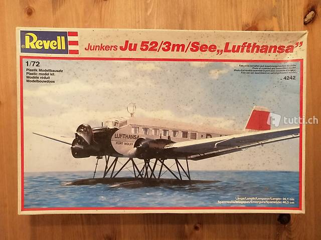"1:72 Revell 4242 - Junkers Ju 52/3m/ See ""Lufthansa"""