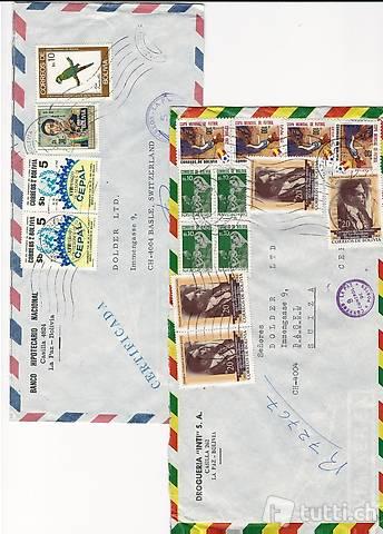 Briefmarken Briefe Bolivien Südamerika