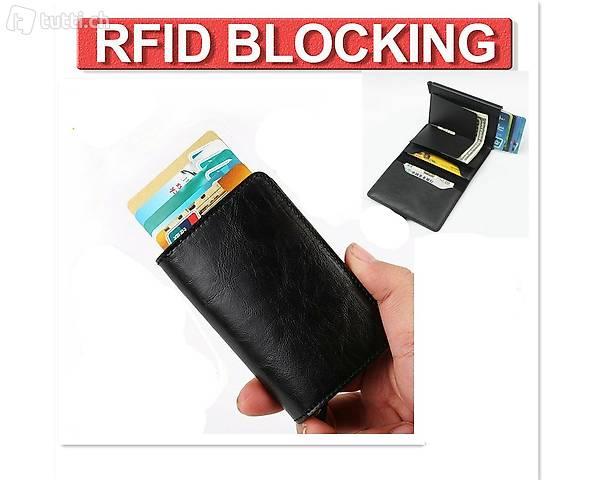 Portofrei B Leder RFID Kredit Kartenetui Gelbeutel Wallet