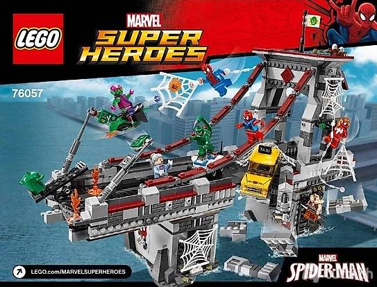 Lego OVP 76057 Web Warriors Ultimate Bridge Battle