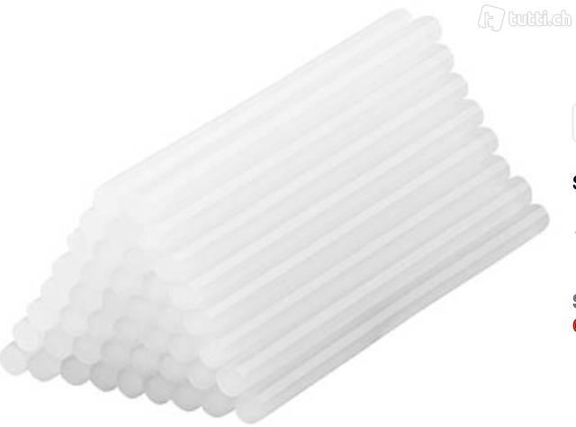 50 Klebesticks für Heißklebepistolen, 11 x 200 mm, weiß