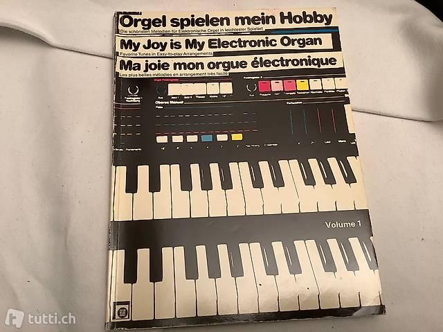 Orgel spielen mein Hobby, Musiknoten