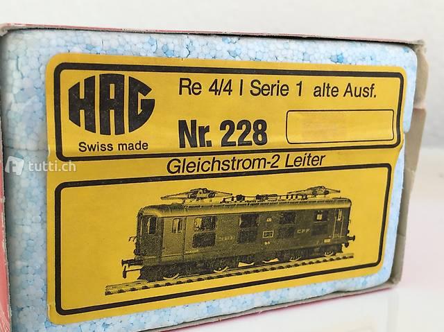 HAG Re 4/4 ISBB Nr. 228 DC-Analog OVP unbespielt NEU