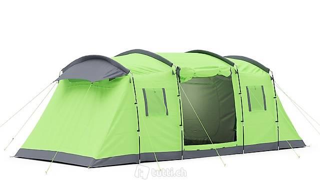 EXPRESS-VERSAND Zelt für 6 Personen grün / anthrazit