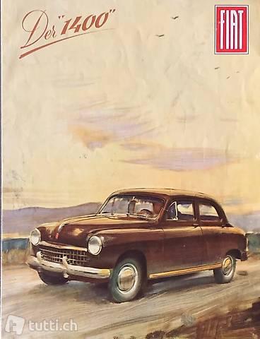 Der 1400 - FIAT 1400 Autoprospekt um 1950/54