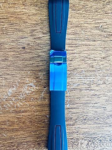 Kautschuk Rubber Uhrenband oyster flex style schwarz 22 neu