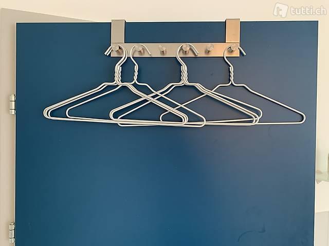 Tür-Garderobe inkl. 8 Kleiderbügel