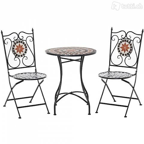 3pcs. balcone set mosaico tavolo 2x (Consegna gratuita)